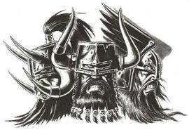 Cabezas bárbaros del Caos