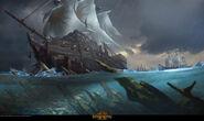 Naufragio warhammer total war por Bill Yi