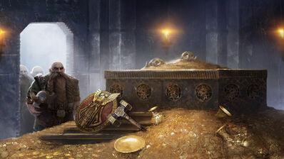 Funeral Enano Warhammer Total War Tumba Tesoro