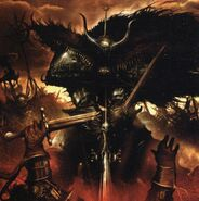Oscura mano de la muerte por Clint Langley Guerreros del Caos