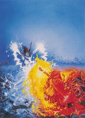 Portada Magia de Batalla por Dave Gallagher