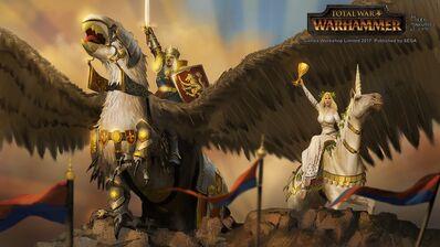 Victoria Bretonia por Milek Jakubiec Warhammer Total War Louen Leoncoeur y Morgana