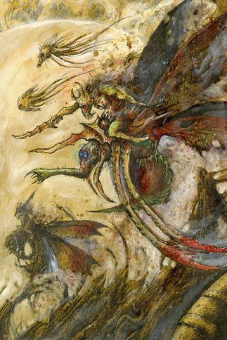 Zánganos de la Plaga de Nurgle 02 por John Blanche