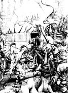 Ejercito de slaanesh diablillas minotauro campeon por Adrian Smith