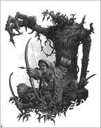 Forestales y Hombre Árbol por Adrian Smith Elfos Silvanos