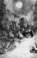 Johann von Mecklenberg y Vukotich por Adrian Smith Wd118