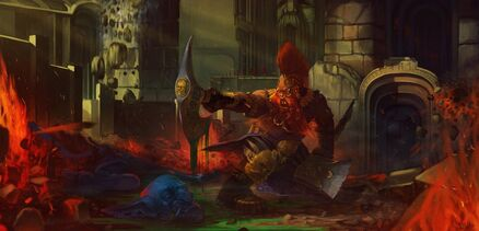 Matador Enano fantasy fan art warrior warhammer slayer