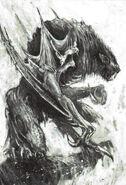Varghulf por John Blanche blanco y Negro