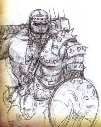 Guerrero Bárbaro del Caos por Adrian Smith Kurgan