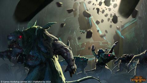 Skaven derrumbamiento warhammer total war por Mathias Zamecki