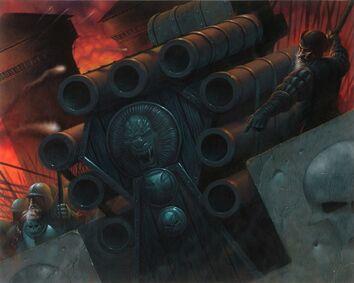 Cañón de Salvas Sabertooth Games GW Trading card - Hellblaster Wayne England