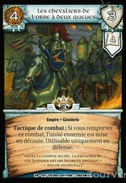 Carte Warcry Siege of Middenheim Caballeros del Orbe de Dos Colas