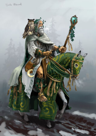 Hechicero Jade de Batalla del Imperio por Gergely Fejervary Warhammer Mark of Chaos