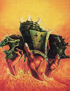 Cascos del Caos por John Blanche