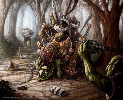 Gobbos saqueando de Mark Molnar Goblins
