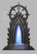 Puerta oscura externa Mazmorra Warhammer Online por Michael Phillippi