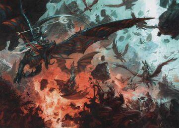 Altos Elfos contra Demonios del Caos
