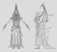 Zacharius Vampiro Necrarca Warhammer Online por Michael Phillippi - Boceto