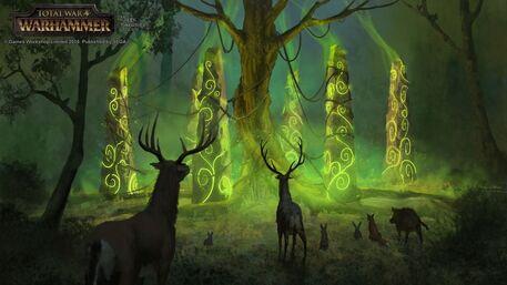 Llamada de los pilares Elfos Silvanos por Milek Jakubiec Warhammer Total War