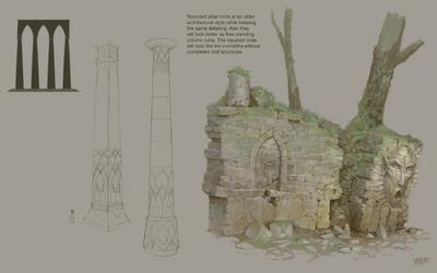 Ruinas Valle Gaen Warhammer Online por Jonathan Kirtz