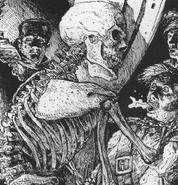 Esqueleto por Russ Nicholson