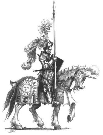 Caballero del Sol Llameante por John Blanche