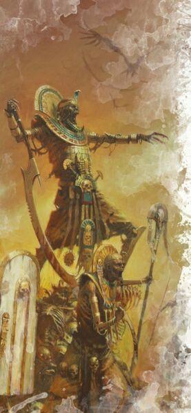 Rey funerario y hidrofante
