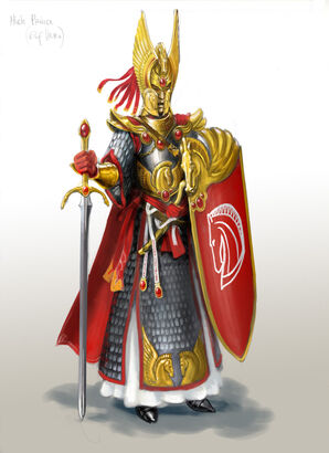 Príncipe Alto Elfo por Gergely Fejervary Warhammer Mark of Chaos