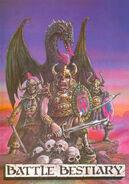 Portada manual Bestiario Warhammer Segunda edición por Tony Ackland y John Blanche