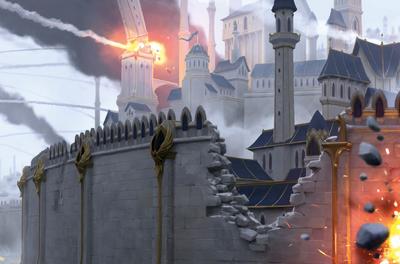 Asedio ciudad alta elfa concept art warhammer total war