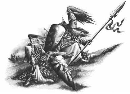 Lanceros Altos Elfos Batalla
