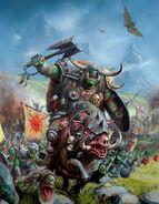 Portada Libro de Ejercito 7ª Edición Orcos y Goblins por Alex Boyd