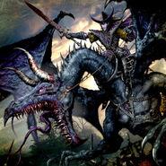 Ha'asek por Clint Langley Elfos Oscuro en Dragón Negro