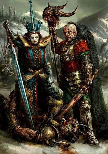 Magnus y Reina de Hielo por Dave Kendall Imperio Kislev