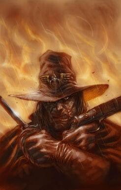 Warhammer fire and iron cover por moritat Cazador de Brujas