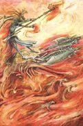 Carros Flamígeros de Tzeentch John Blanche