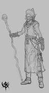 Hechicero Brillante 03 boceto Warhammer Online por Michael Phillippi