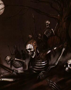 Esqueletos bestiario viejo mundo