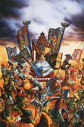 Portada libro de ejército Enanos 4ª edición por Dave Gallagher Thorgrim Custodio de Agravios