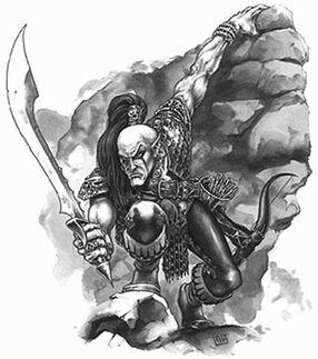Explorador Elfo Oscuro por Mark Gibbons Sombra