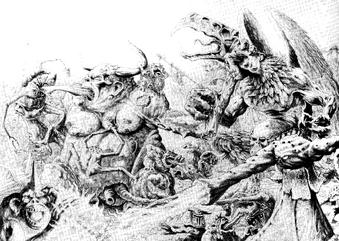 Demonios nurgle contra tzeentch por Paul Campbell