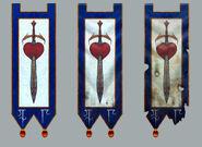 Estandarte Altos Elfos Corazón varios estados Warhammer Online por Michael Phillippi