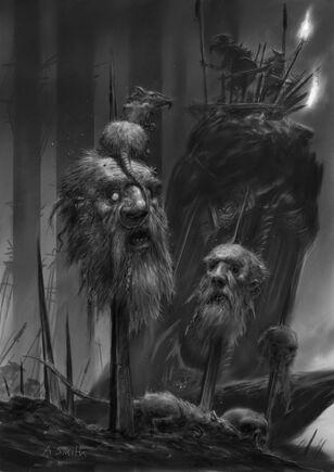 Skavens cabezas de Enano por Adrian Smith