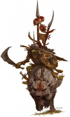 Jinete de Lobo goblin por Adrian Smith
