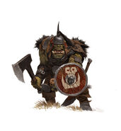 Adrian Smith Forgeworld Orco con Rebanadora y Escudo