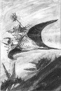 Aullador y mago por John Blanche