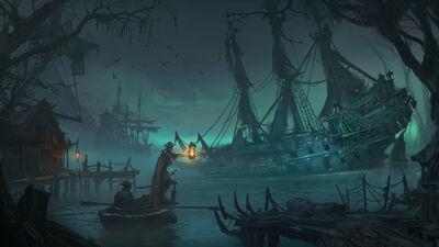 Costa del Vampiro Warhammer Total War II por Lucas Staniec