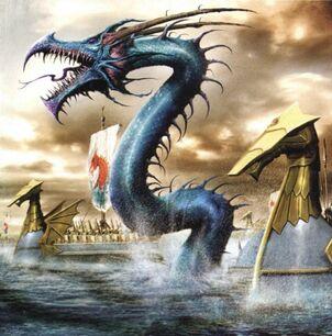 Serpiente Marina por Clint Langley