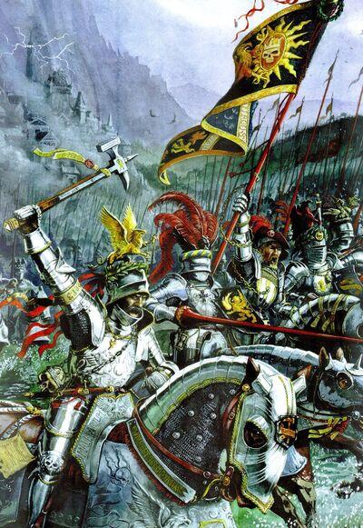 Portada Libro de Ejército El Imperio sexta por Dave Gallagher Órdenes de Caballería