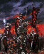 Portada Libro de ejército Elfos Oscuros 7ª edición por Paul Dainton